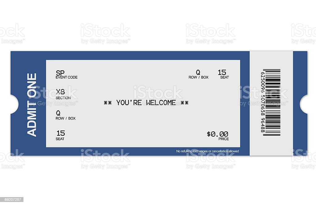 Event ticket stock photo