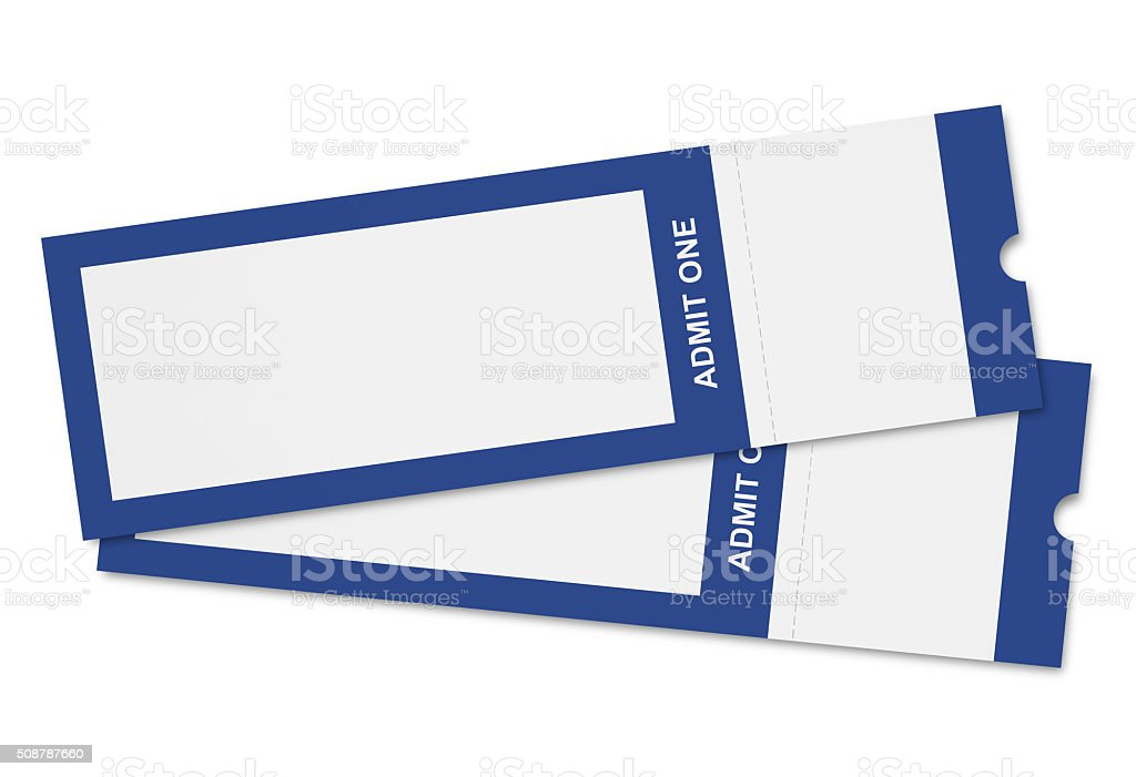 Event Tickets (with path) stock photo