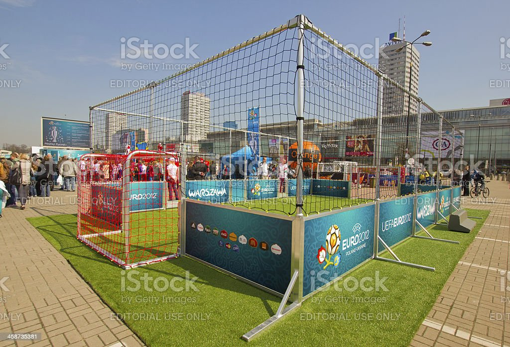 Events dedicated to Euro 2012 championship, Warsaw, Poland royalty-free stock photo
