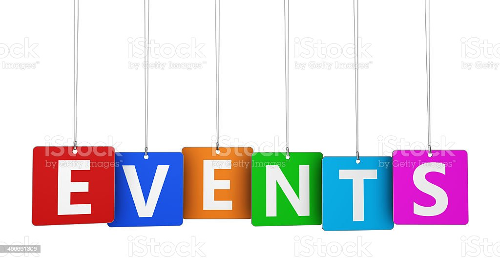Events Sign stock photo