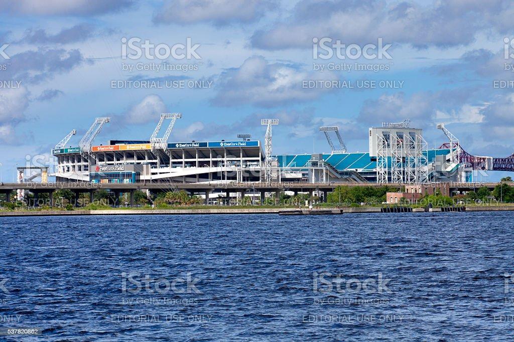 EverBank Field in Jacksonville, Florida stock photo