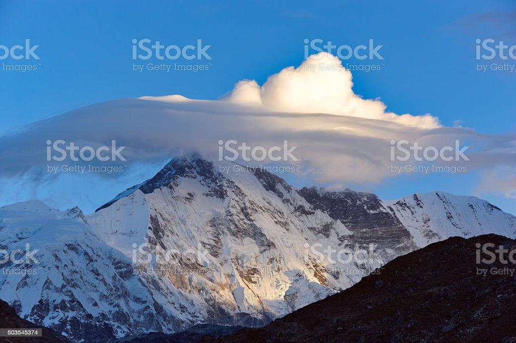 Everest. Annapurna. Dhaulagiri. Lhotse. Nepal motives stock photo
