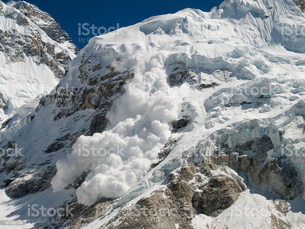 Everest Base Camp Avalanche stock photo
