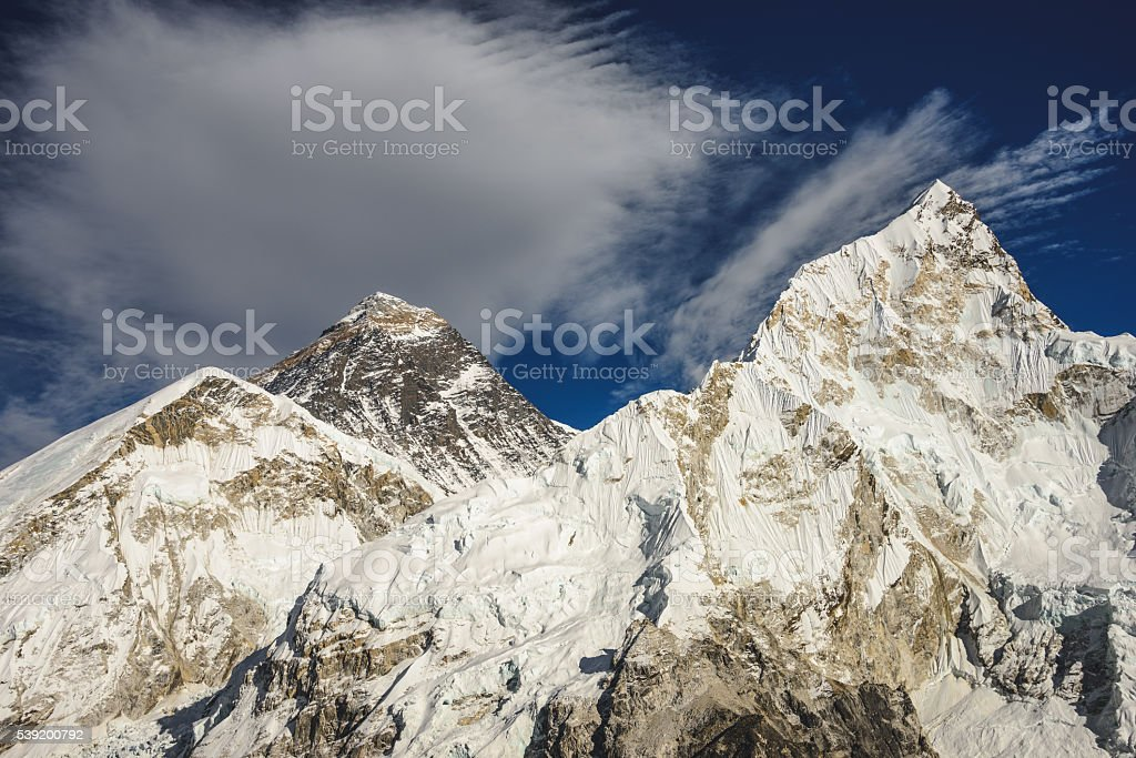 Everest clouds stock photo