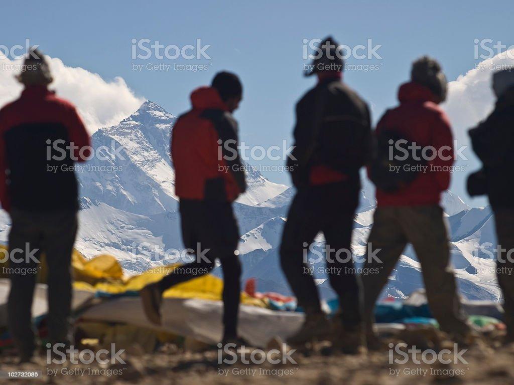 Everest from Tibet stock photo