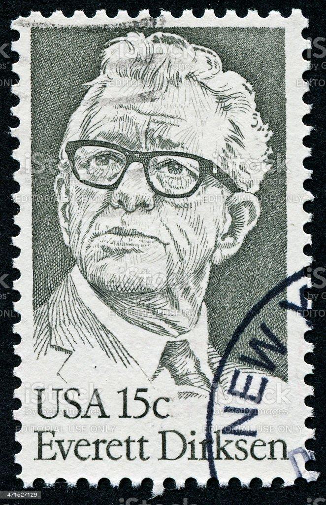 Everett Dirksen Stamp royalty-free stock photo