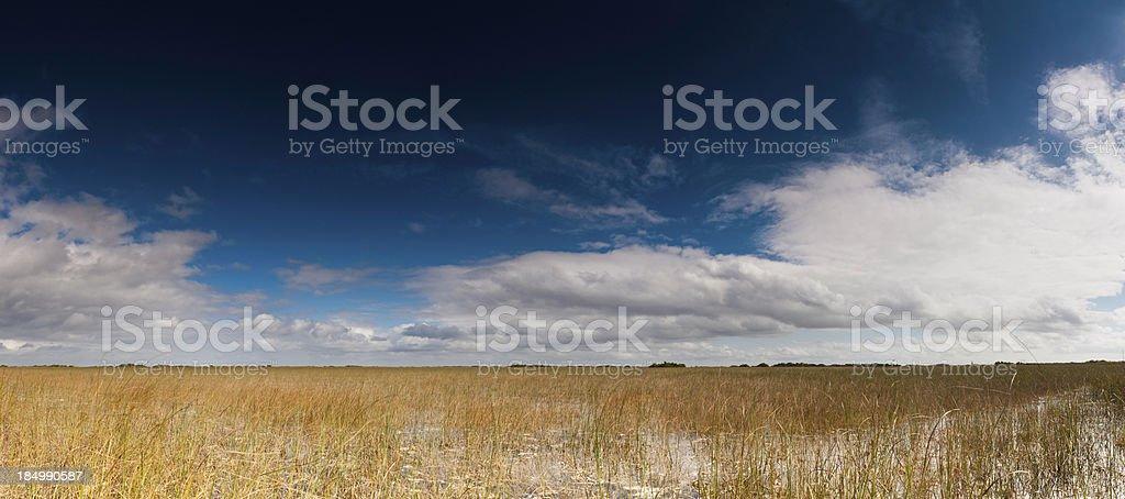 Everglades National Park panorama Florida stock photo