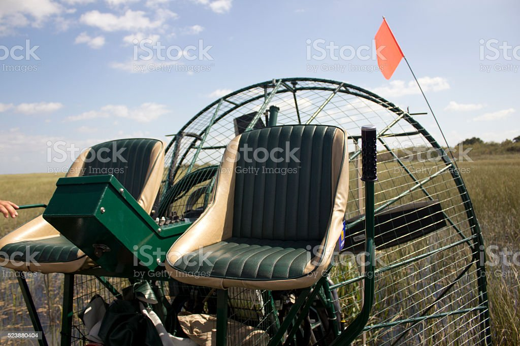 Everglades Swamp Air Boat Airboat motorboat stock photo