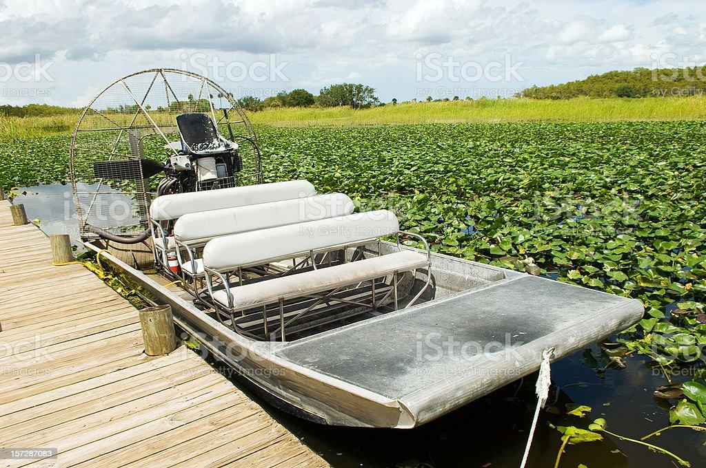 Everglades Swamp Motorboat stock photo