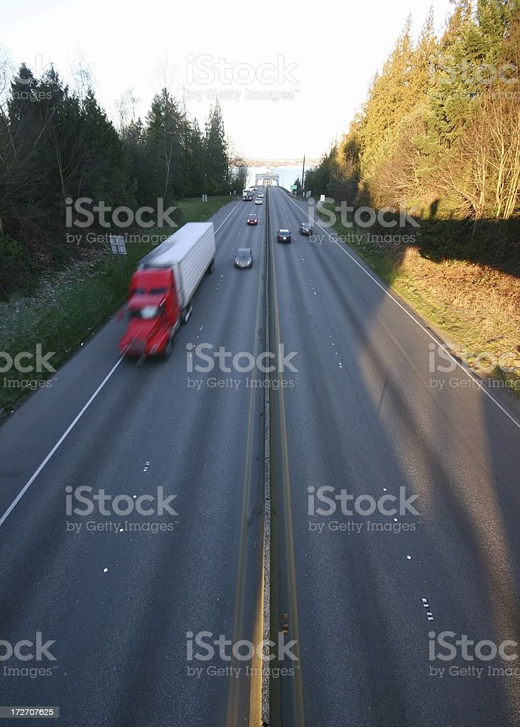 Evergreen Point Floating Bridge royalty-free stock photo