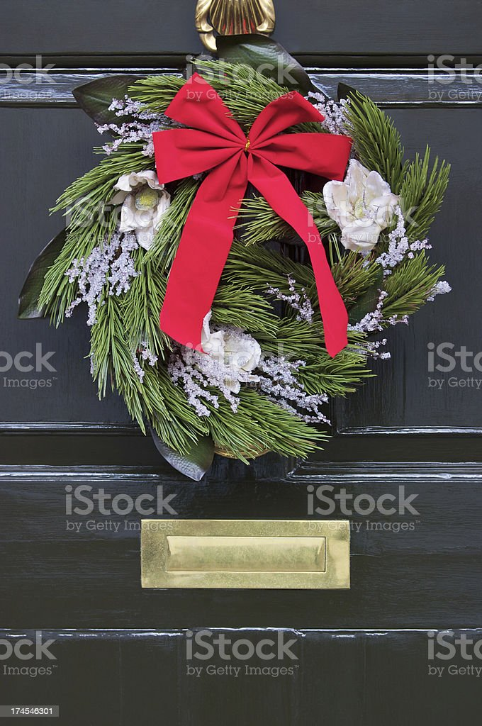 Evergreen Wreath stock photo