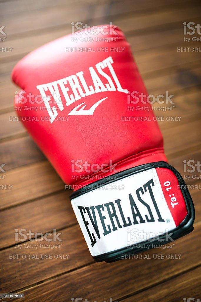 Everlast boxing gloves apparel stock photo
