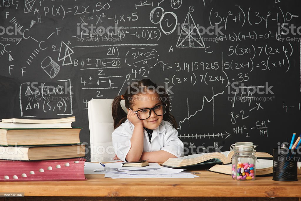 Every child is born a genius stock photo