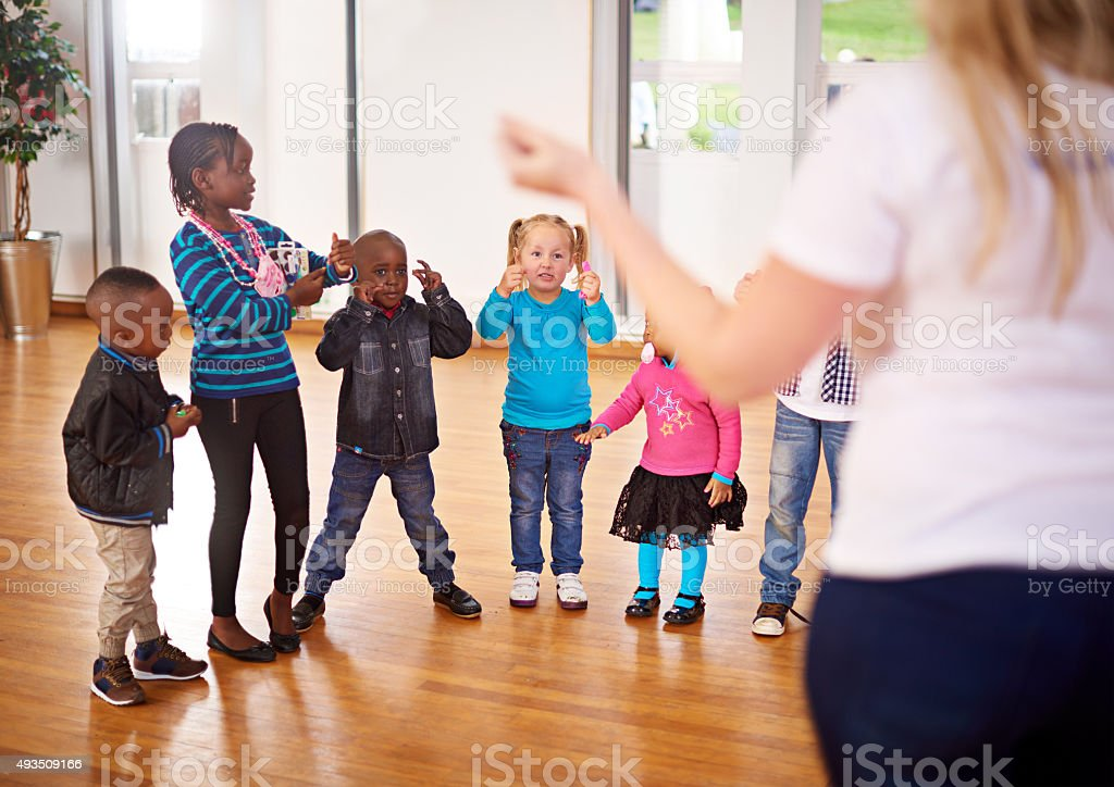Every child needs someone to look up to stock photo