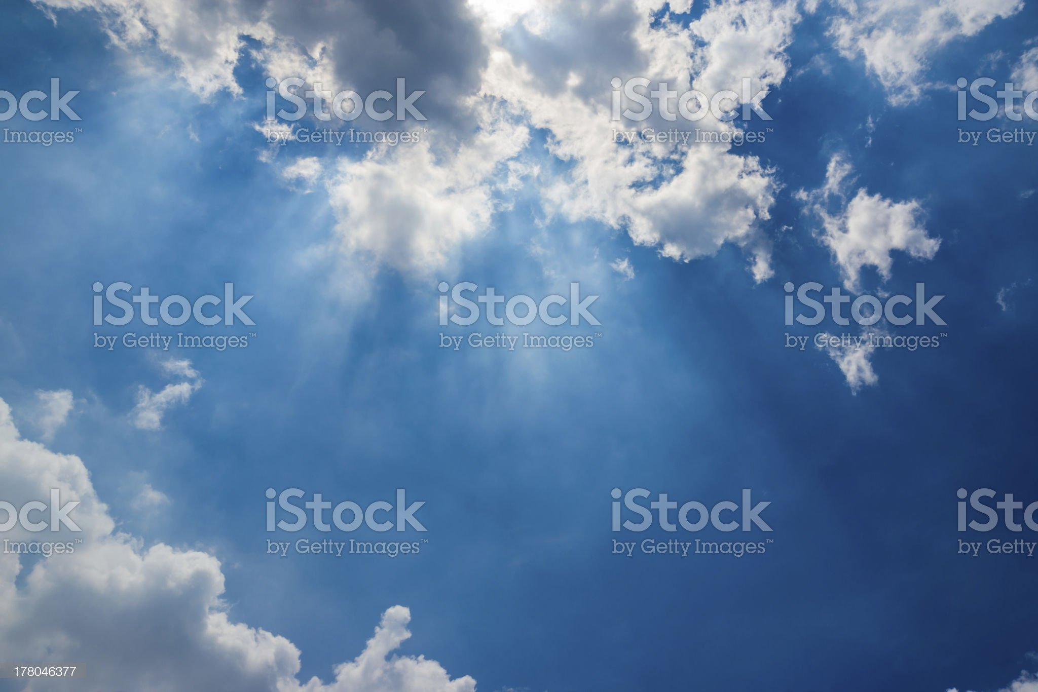 Every Cloud has a silver lining royalty-free stock photo