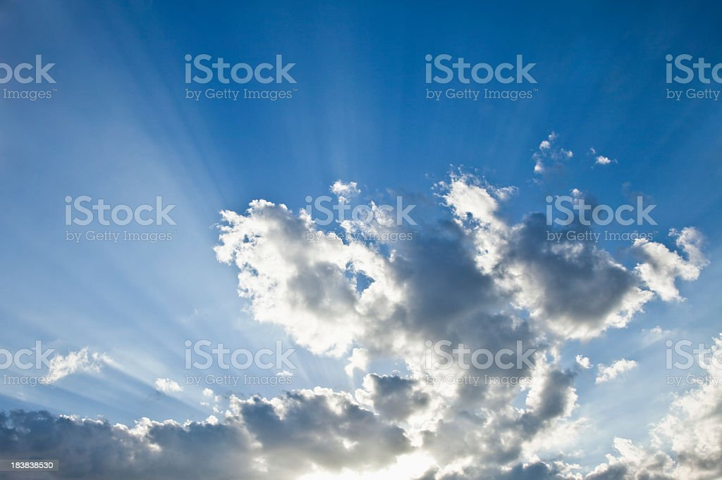 Every cloud has a silver lining stock photo