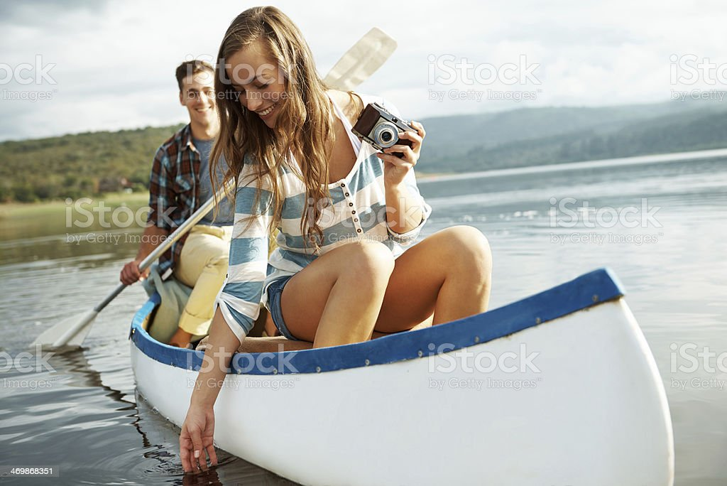 Every day is a holiday when you are in love stock photo