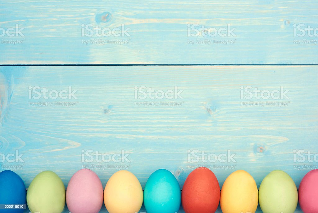 Every easter egg in different colour stock photo