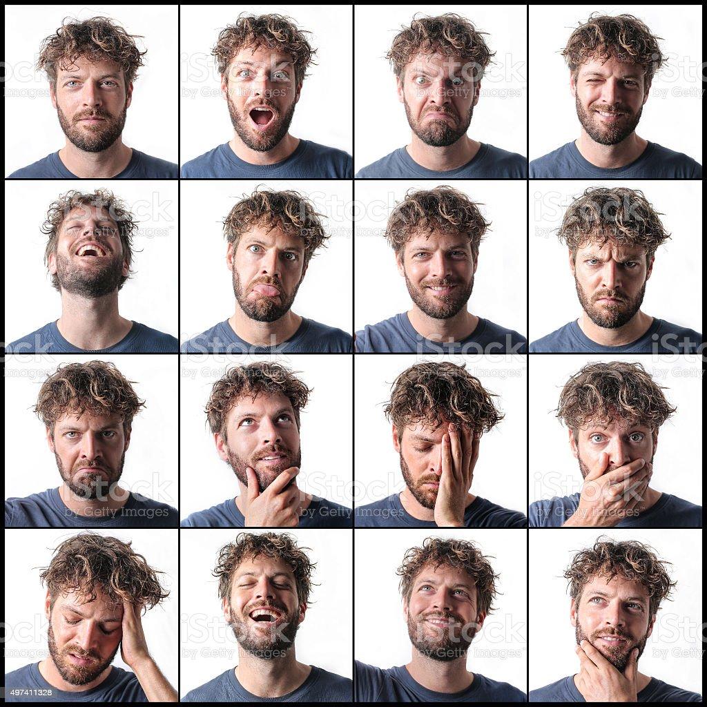 Every emotion stock photo