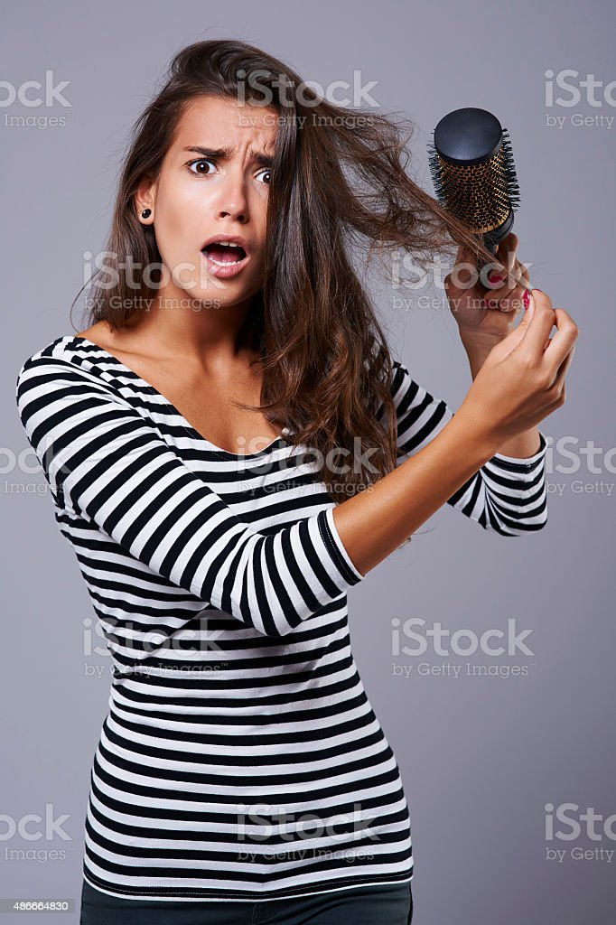 Every girl knows this problem very well stock photo