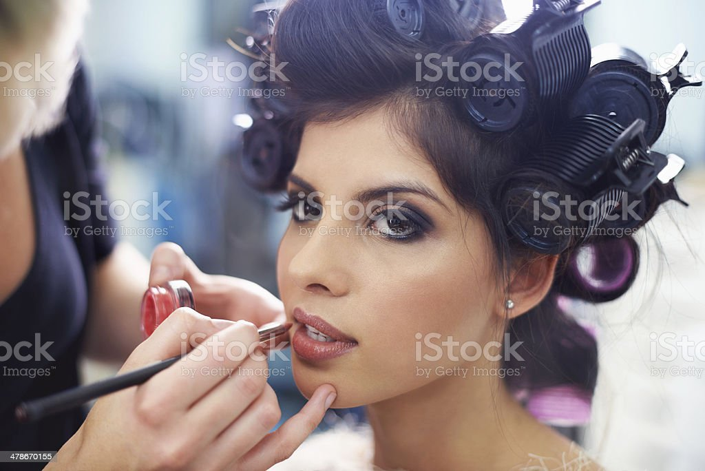 Every girl loves to be pampered stock photo