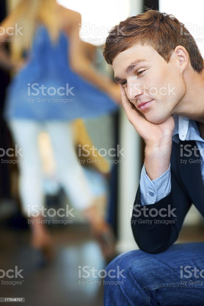 Every guy can relate royalty-free stock photo