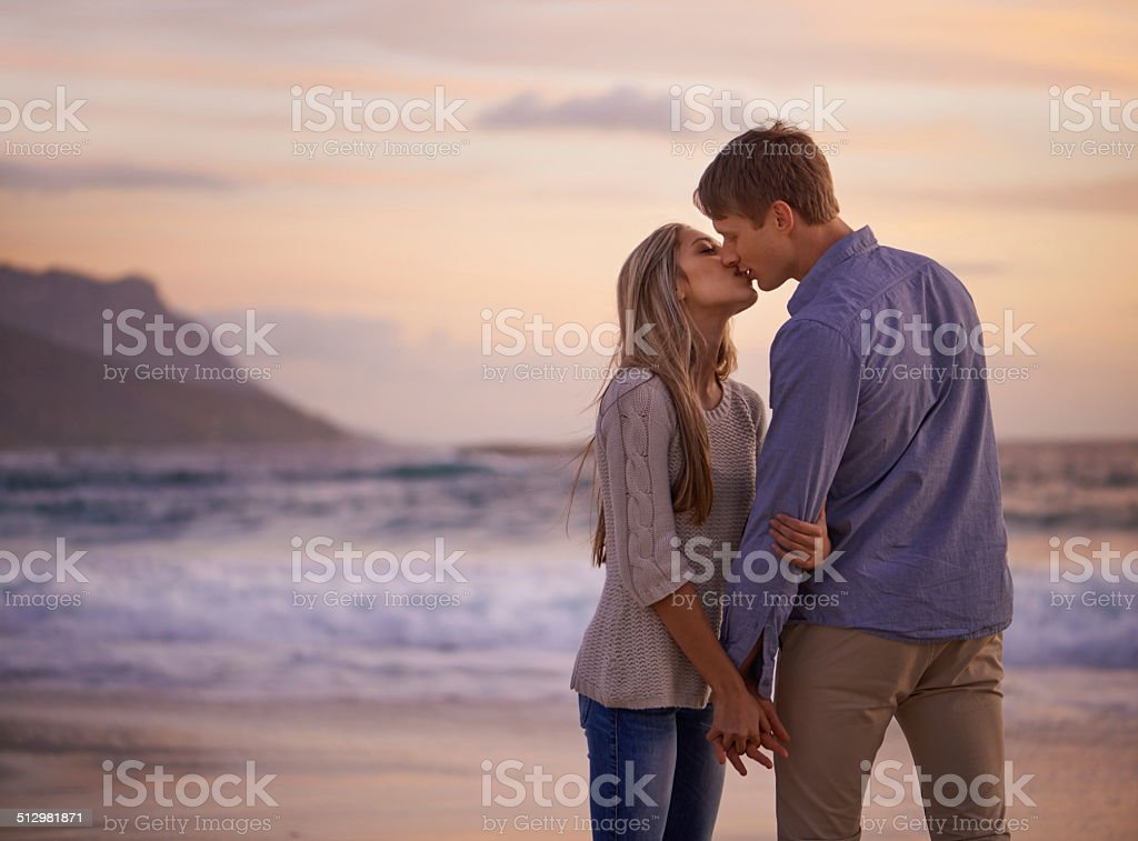 Every kiss feels like our first stock photo