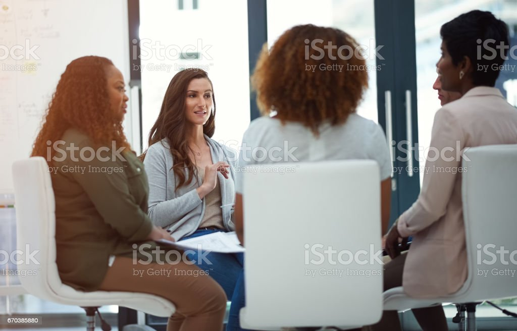 Every meeting introduces fresh new ideas stock photo