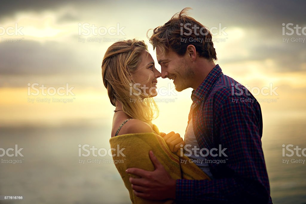 Every moment spent with you is a dream come true stock photo