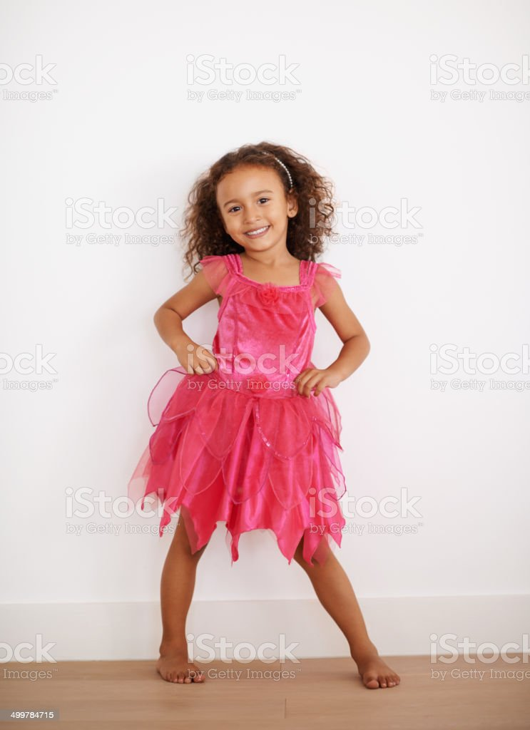 Every princess should wear pink stock photo