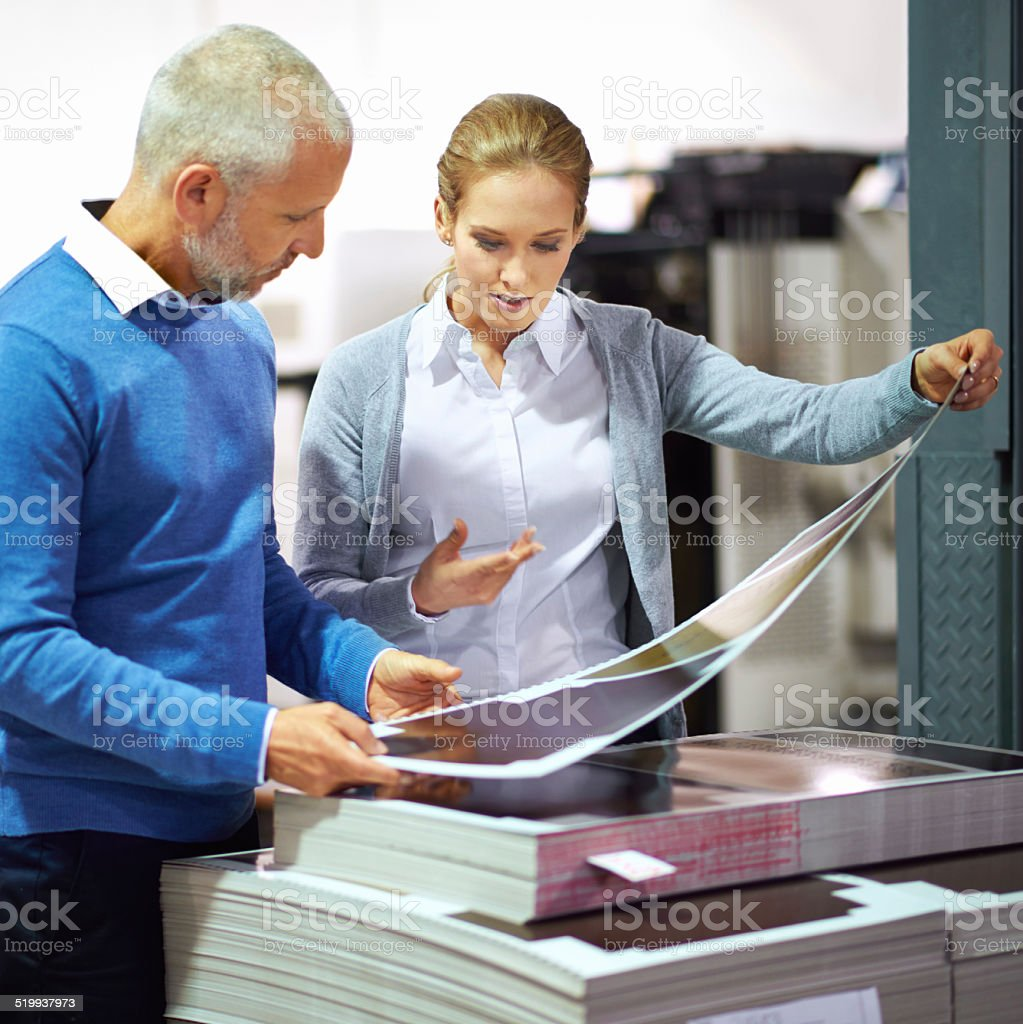Every process goes through a quality check stock photo