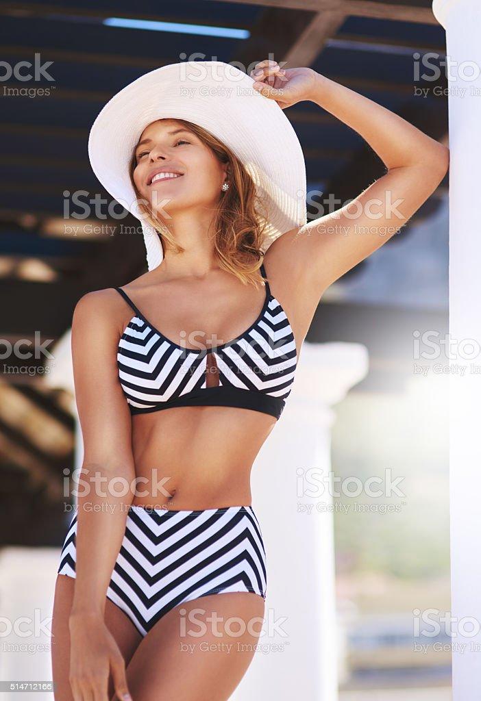Every season is bikini season for me stock photo