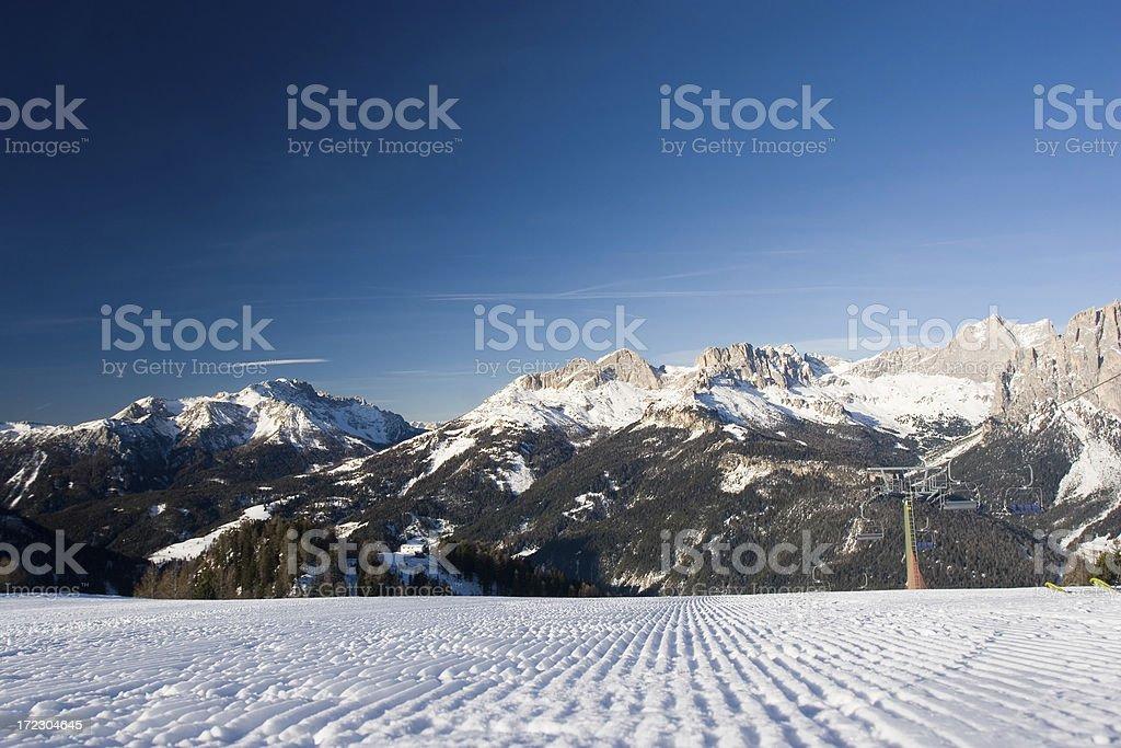 Every skier's dream royalty-free stock photo