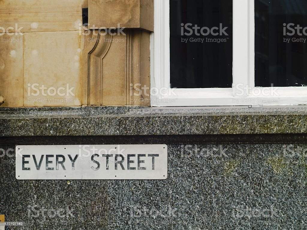 Every Street royalty-free stock photo