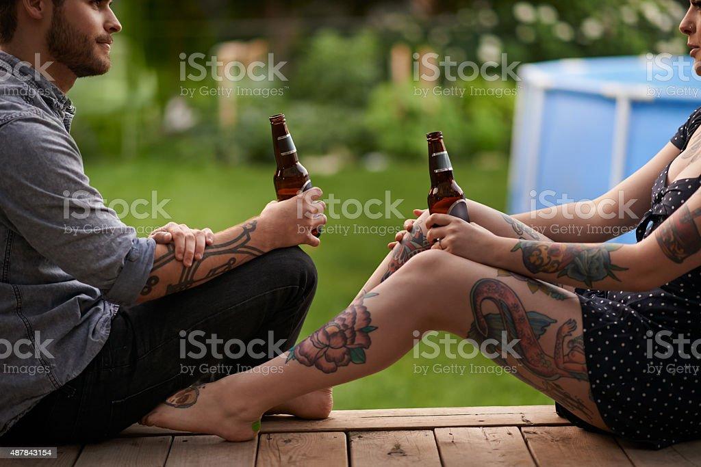 Every tattoo has a story stock photo