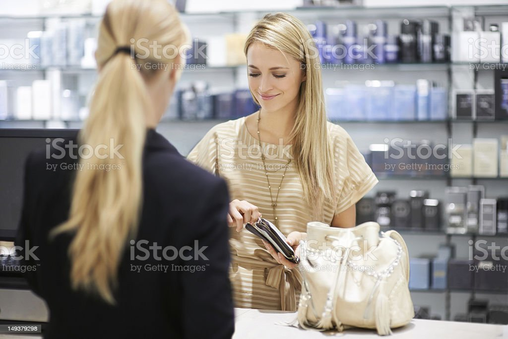 Every woman needs to indulge now and then stock photo