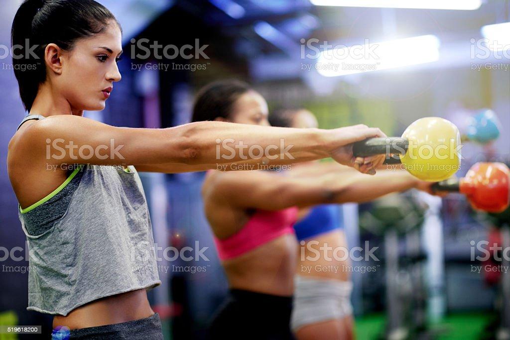Every workout is progress stock photo