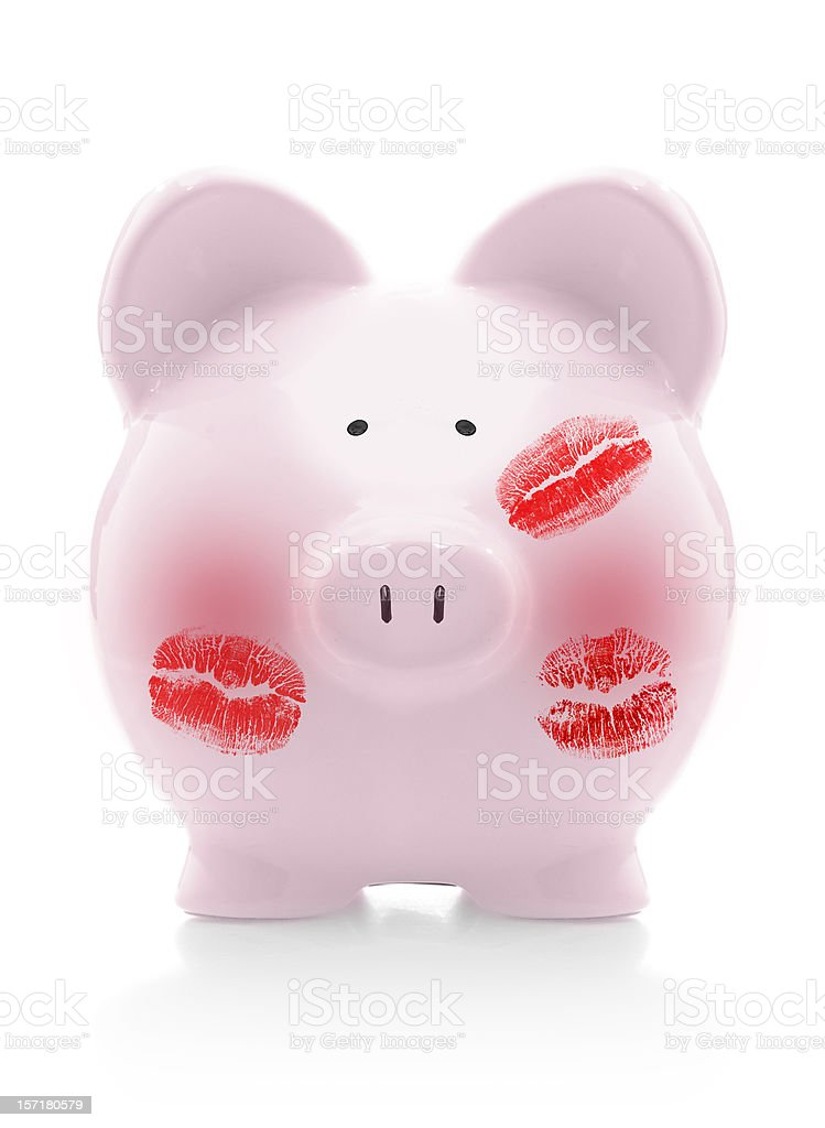 everybody loves the piggybank royalty-free stock photo