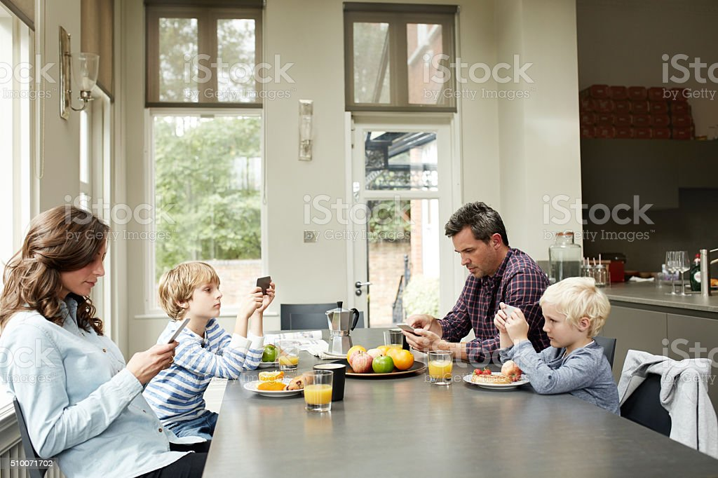Everybody's distracted nowadays stock photo