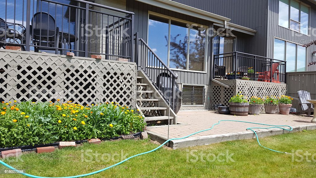 Everyday Comfortable Condo Living In The Summer stock photo