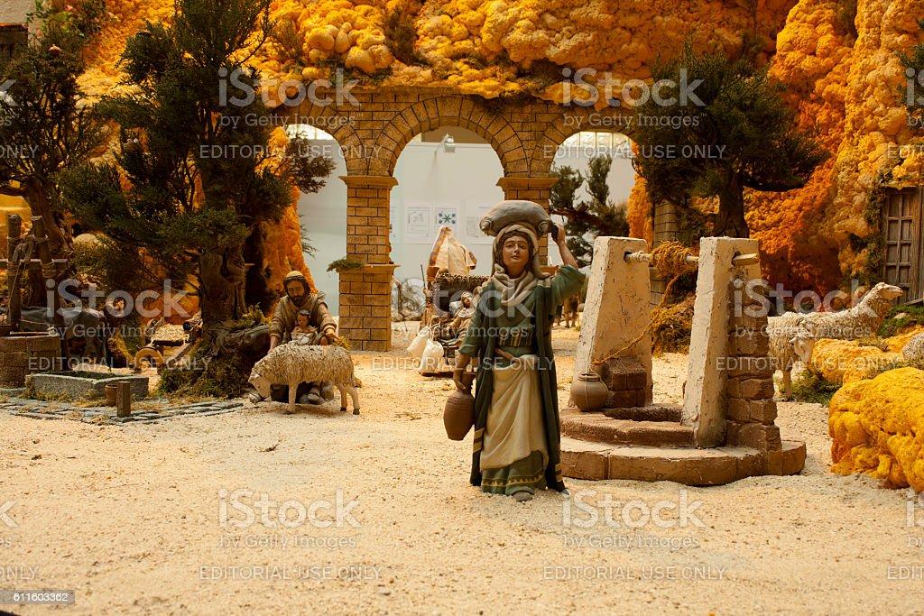 Everyday life in times of christ, scene part of Bethlehem stock photo
