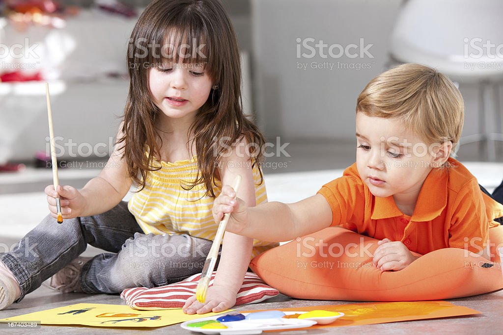 Everyday toddler lessons royalty-free stock photo