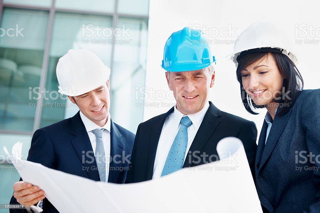 Everyday work for expert contractors royalty-free stock photo
