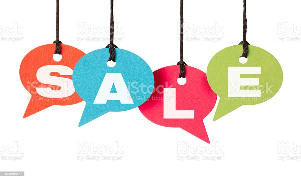 Everyone is talking about this SALE royalty-free stock photo