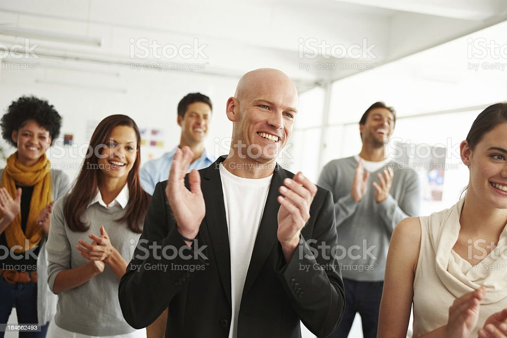 Everyone loves success stock photo