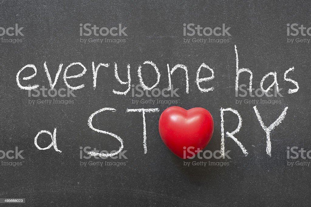 everyone story stock photo