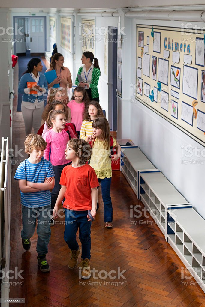Everyone to Class stock photo