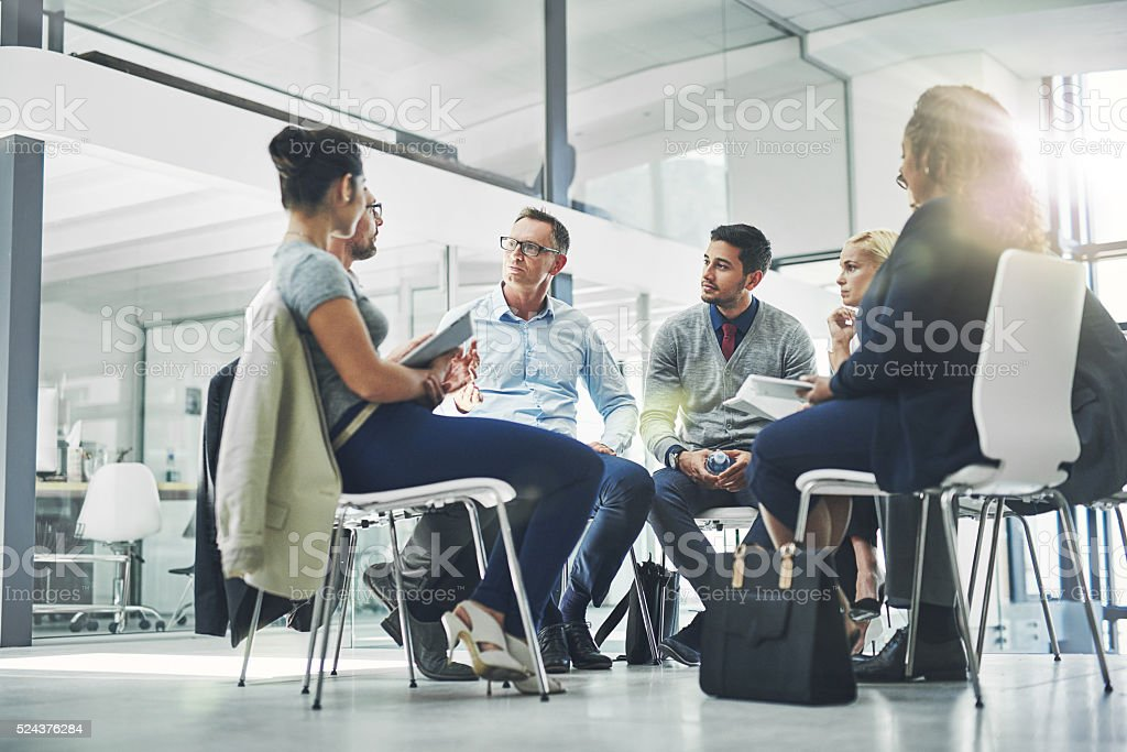 Everyone's ideas are important stock photo