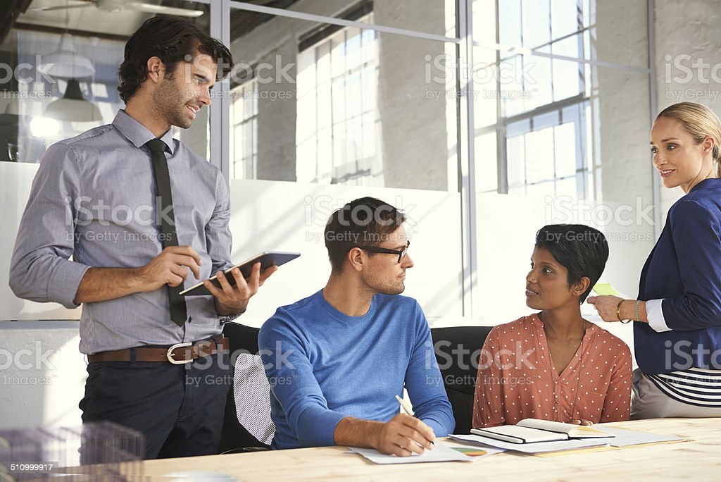 Everyone's opinion matters in this office stock photo