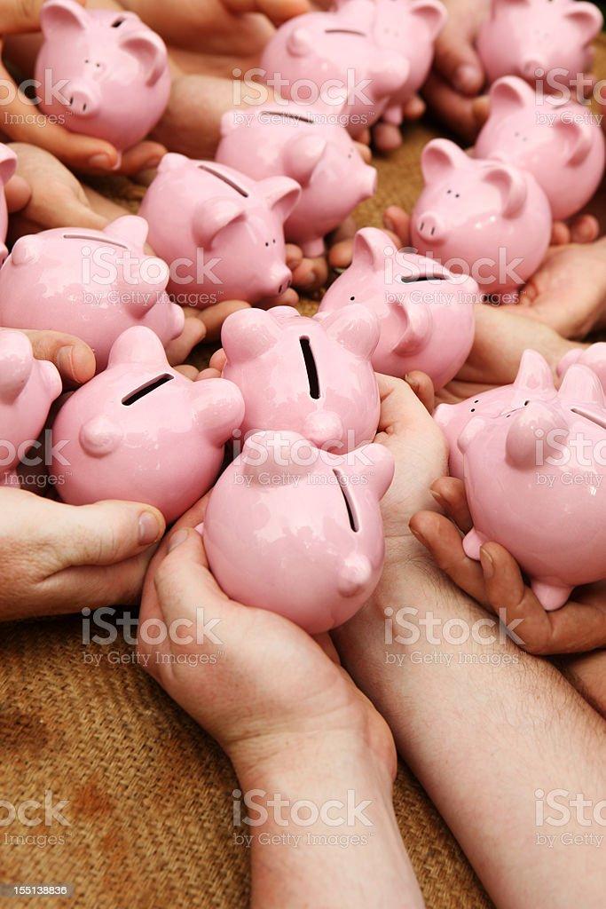 Everyone's Savings stock photo